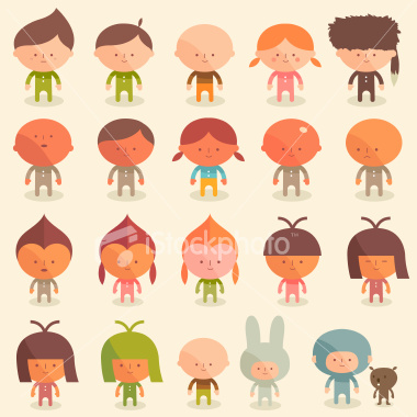 stock illustration 3240559 very childish kid character illustrations Original Turntable.fm Avatars
