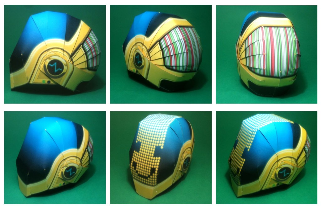Paper Daft Punk Helmet