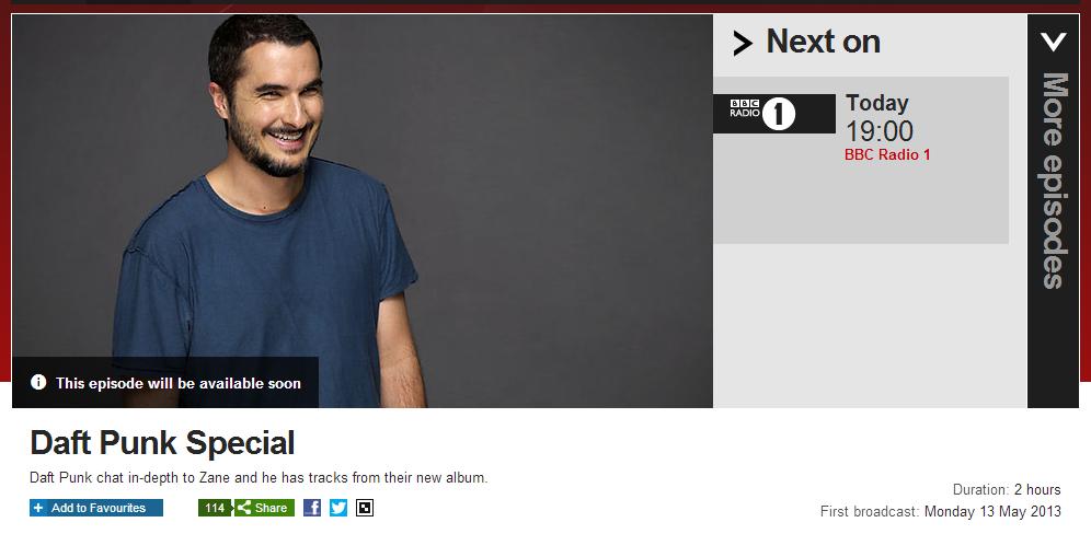 Daft Punk Special – BBC Radio – Zane Lowe