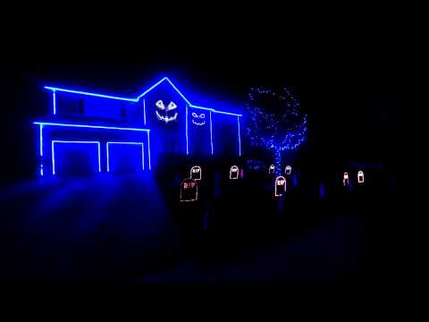 Halloween Light Show 2013 – The Fox (What Does the Fox Say) – Lights by Edwards Landing Lights
